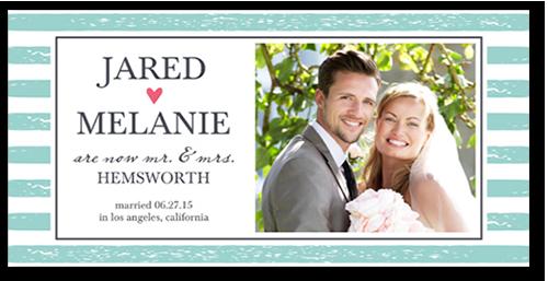 Textured Stripes Wedding Announcement