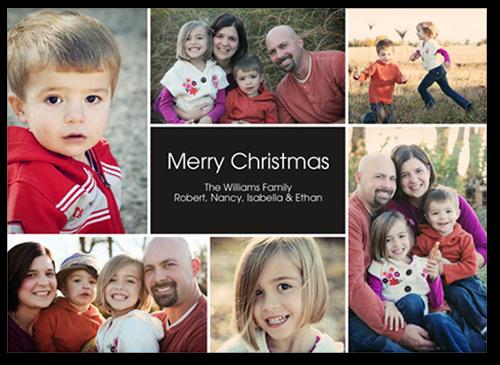Cheer All Around Christmas Card, Square Corners