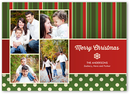 Pure Perfection Christmas Card, Square Corners