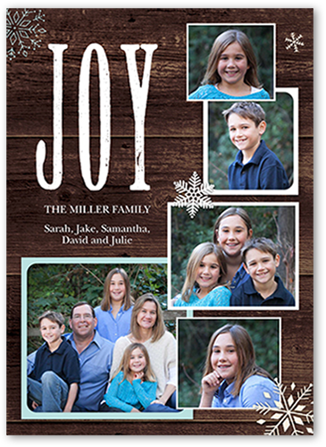 Outstanding Joy Christmas Card
