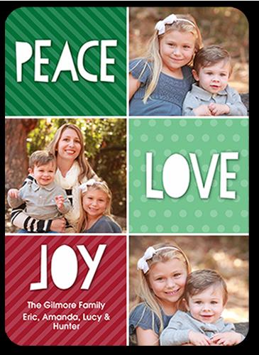 Fun Color Blocks Christmas Card