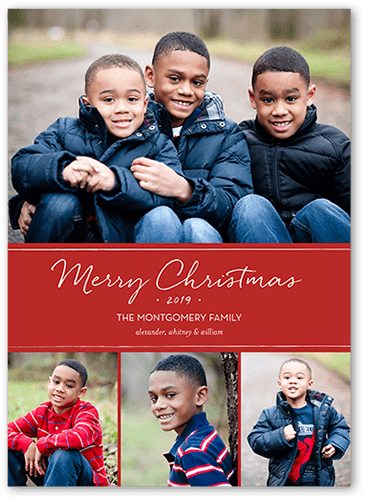 Basic Festive Banner Christmas Card