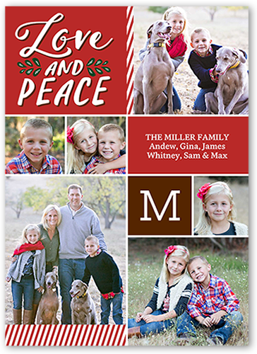 Seasonal Photo Grid Christmas Card
