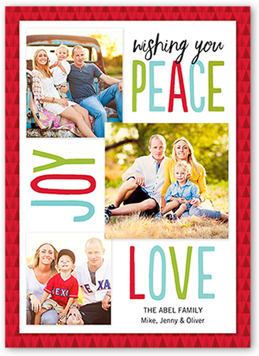 Lovely Peaceful Joy Christmas Card