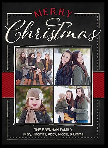 Festive Brushed Frames Christmas Card