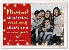 string light cheers christmas card
