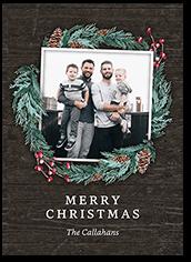 christmas foliage christmas card