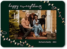 lucky lights holiday card