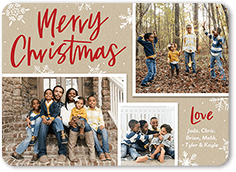 scripty snowflakes holiday card