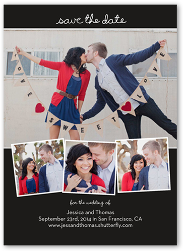 Love Filmstrip Save the Date, Square Corners