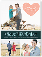 embracing love save the date 5x7 photo