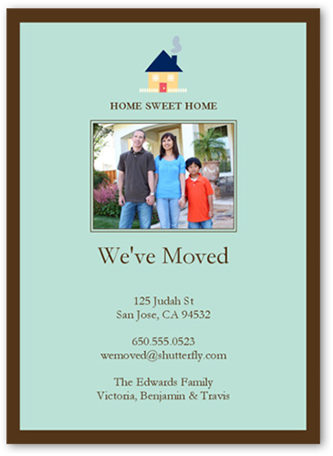 Home Sweet Home Moving Card, Square