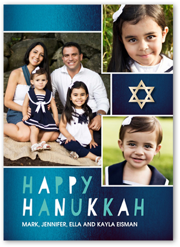 Shimmering Star Hanukkah Card