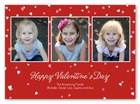 confetti hearts valentines card 5x7 photo