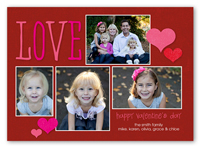 giving our love valentines card 5x7 photo