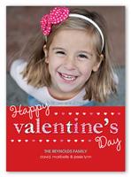 patterned valentine valentines card 5x7 photo