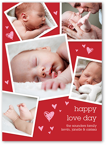 Cute Heart Collage Valentine's Card