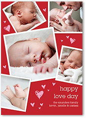 cute heart collage valentines card 5x7 photo