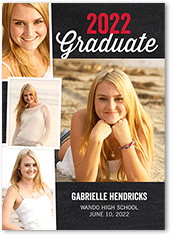 vintage grad graduation card 5x7 photo