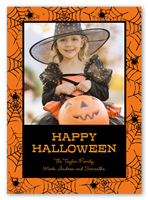 halloween card from 127 spider web frame - Photo Halloween Cards