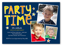 lets party birthday invitation 5x7 photo