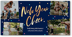 speckled cheer new years card