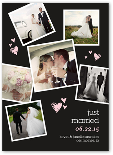 Sweet Heart Collage Wedding Announcement