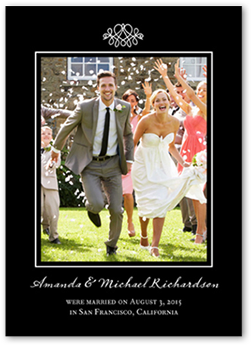 Favorite Flourish Wedding Announcement, Square Corners
