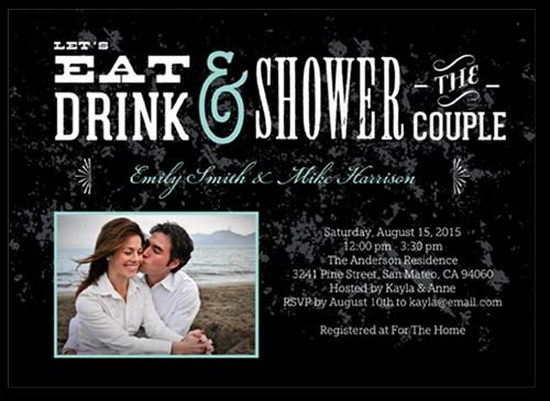 Vintage Affair Bridal Shower Invitation, Square Corners