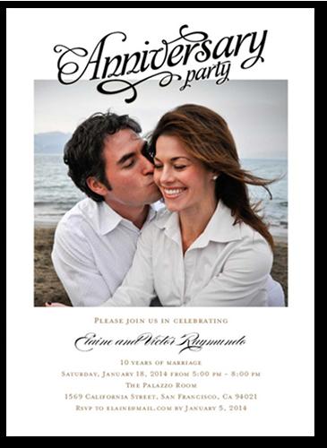 We Still Do Wedding Anniversary Invitation, Square Corners