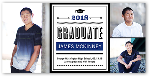 Modern Type Graduation Announcement
