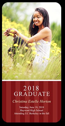 Stripes And Grad Graduation Card