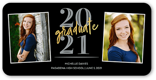Noble Commencement Graduation Card, Rounded Corners