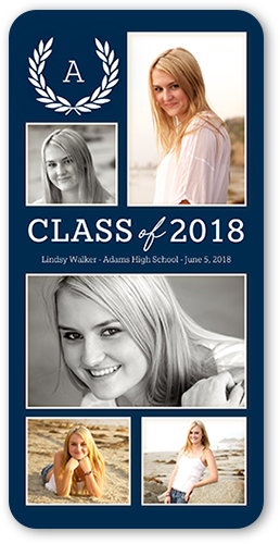 Classy Laurel Graduation Card, Rounded Corners