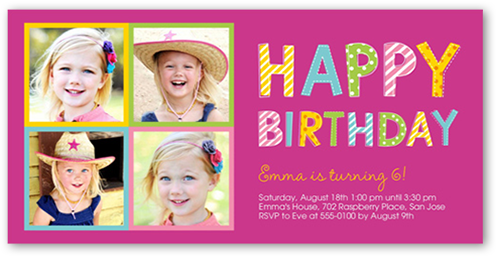 Framed For Her Birthday Invitation, Square Corners