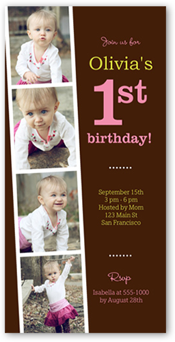 party time collage x photo card  birthday invitations  shutterfly, invitation samples