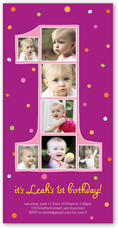 Girl First Birthday Invitations Shutterfly