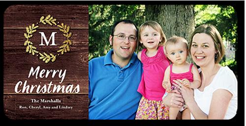 Gilded Wreath Christmas Card