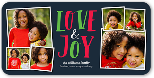 Love And Joy Hues Christmas Card