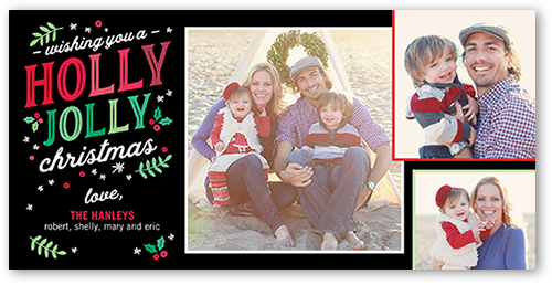 Holly Jolly Berries Christmas Card