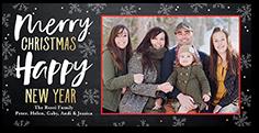 colorfully framed christmas card 4x8 photo