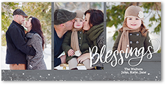 boundless blessings religious christmas card 4x8 photo