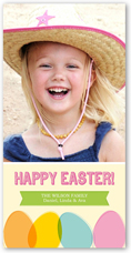 pastel eggs easter card 4x8 photo
