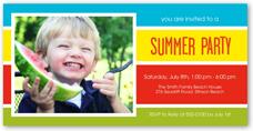 summer stripes summer invitation 4x8 photo