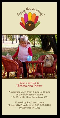 Happy Turkey Fall Photo Card
