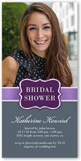sophisticated shower bridal shower invitation 4x8 photo