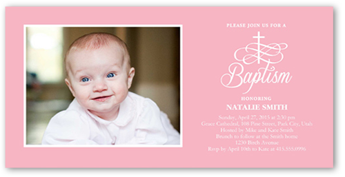 Celebration Cross Girl 4x8 Photo Card Baptism Invitations Shutterfly