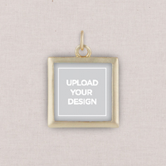 gold upload your own design photo charm