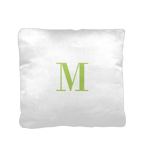 Simple Monogram Pillow White