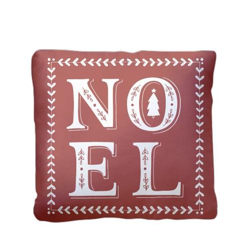 Noel Pillow, Plush, Pillow (Plush), 16 x 16, Single-sided, Red